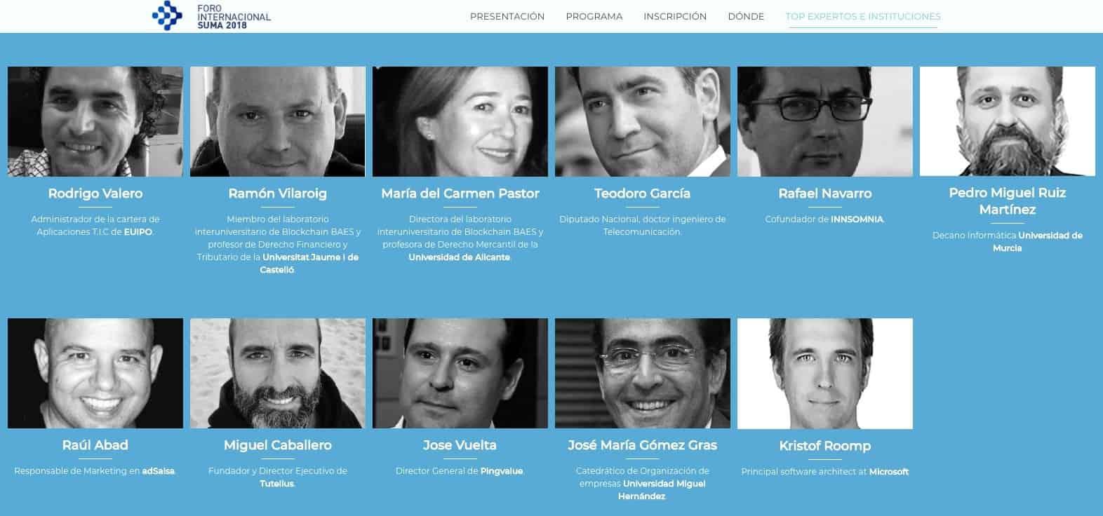 Foro Internacional Expertos Blockchain